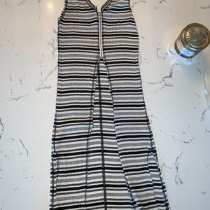 Free People Black and White Striped Vest Top